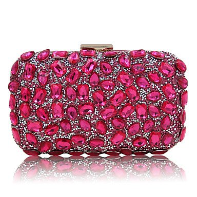Women's Bags Polyester Evening Bag Sequin / Crystal / Rhinestone Artwork Black / Silver / Fuchsia 5674925 2019 – $24.99
