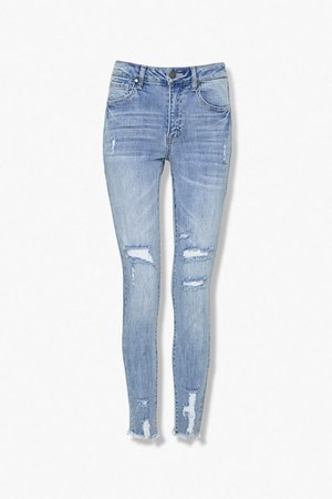 Distressed Skinny Jeans   Forever 21