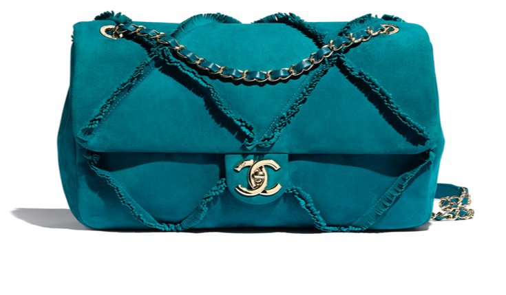 turquoise Chanel purse