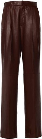 Jil Sander Tapered-Leg Leather Pants