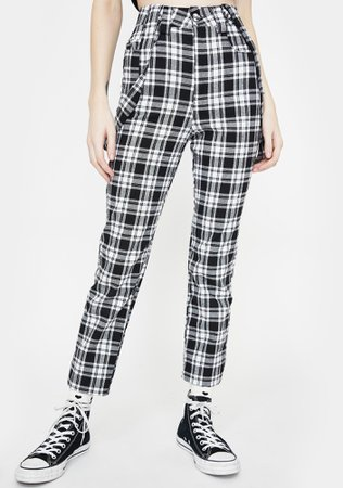Jawbreaker Check The Boxes Skinny Trousers | Dolls Kill