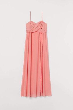 MAMA Long Bandeau Dress - Red