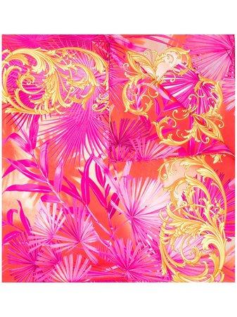Versace Barocco Jungle Print Scarf Aw20 | Farfetch.Com