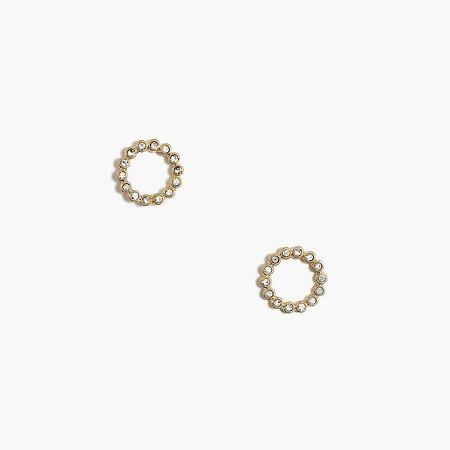 J.Crew Factory: Crystal Circle Stud Earrings