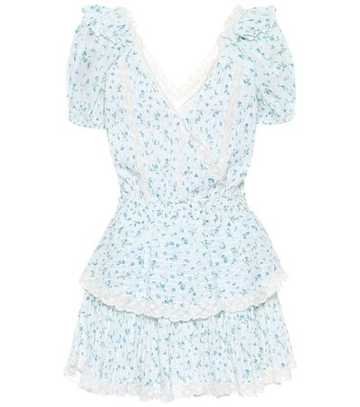 LoveShackFancy, Carlo ruffled cotton minidress