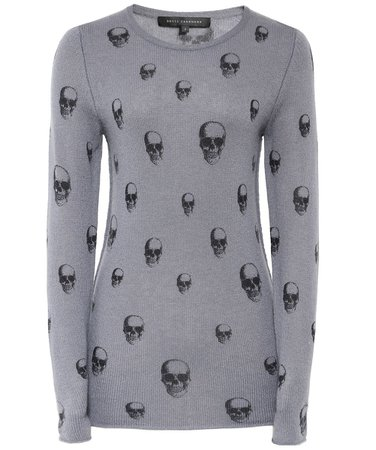 dark grey skull print sweater