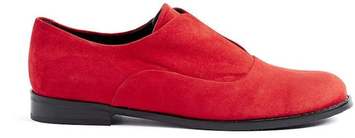 WtR - Sky Red Suede Leather Flats