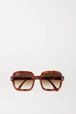 Tortoiseshell Square-frame tortoiseshell acetate sunglasses | Ray-Ban | NET-A-PORTER