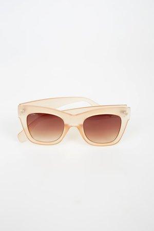 Pink Champagne Sunglasses - Transparent Sunglasses - Lulus