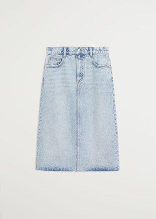 Denim skirt - Women | Mango USA blue