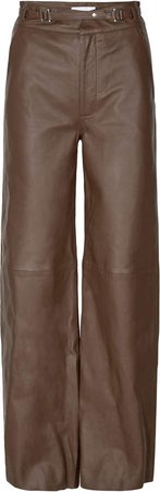 Remain Bocca Straight-Leg Leather Pants