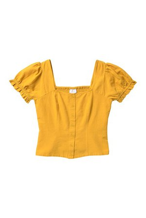 Abound | Square Neck Puff Sleeve Smocked Crop Top | Nordstrom Rack
