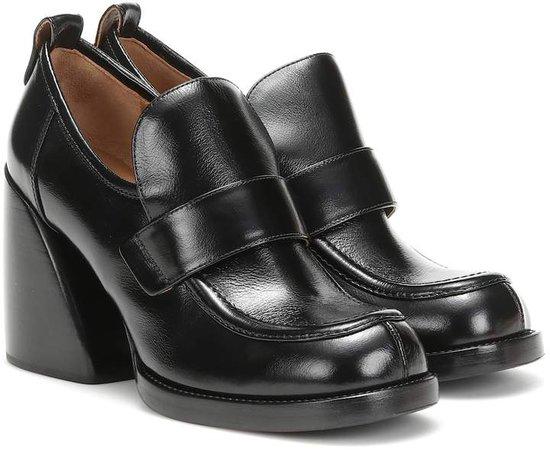 Chloã© Wave leather loafer pumps