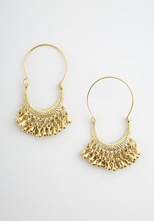 The Powers that Bead Dangle Earrings in Gold | ModCloth