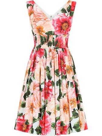 Dolce & Gabbana Vestido Com Estampa Floral - Farfetch
