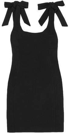 Dahlia Bow-embellished Crepe Mini Dress