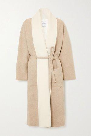 Beige Belted wool-blend coat   LE 17 SEPTEMBRE   NET-A-PORTER
