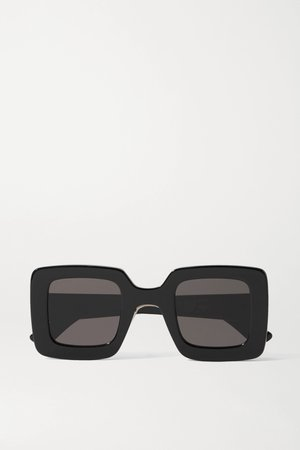 Black Square-frame acetate sunglasses | Gucci | NET-A-PORTER