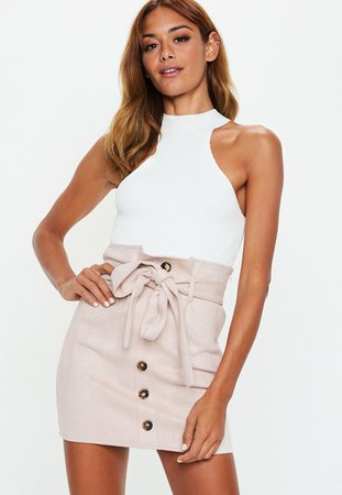 blush-faux-suede-paperbag-waist-mini-skirt.jpg (1160×1681)