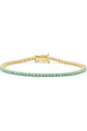 Jennifer Meyer | 18-karat gold turquoise bracelet | NET-A-PORTER.COM