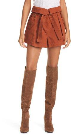 Tie Waist Cotton Shorts