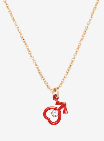 Sailor Moon Sailor Mars Dainty Symbol Necklace