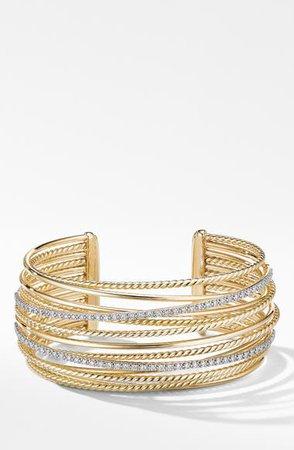 David Yurman Crossover Cuff Bracelet with Diamonds | Nordstrom