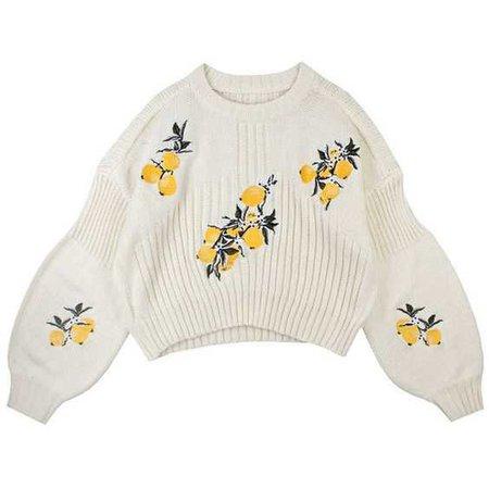 flower knit sweater