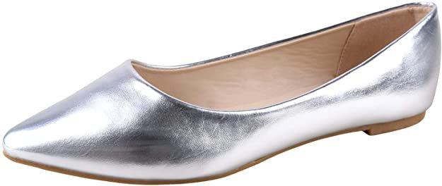 Amazon.com | BellaMarie Women's Angie-28 Classic Pointy Toe Ballet Flat Shoes | Flats