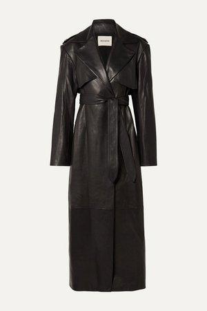 Khaite | Blythe leather trench coat | NET-A-PORTER.COM