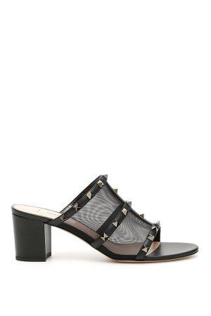 Valentino Garavani Rockstud Mesh Sandals