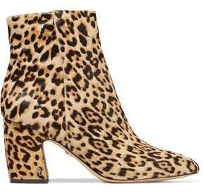Hilty Leopard-print Calf Hair Ankle Boots