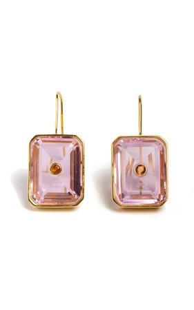 Tile Earrings By Lizzie Fortunato   Moda Operandi