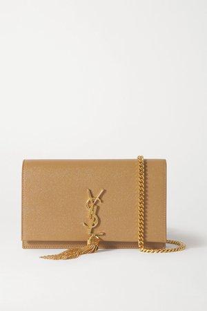 Tan Kate textured-leather shoulder bag | SAINT LAURENT | NET-A-PORTER