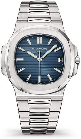 Amazon.com: Patek Philippe 5711/1A-010 Automatic Black-Blue Dial Luxury Men's Watch: Watches