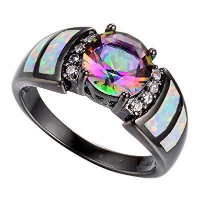 Rainbow Opal Ring Women's