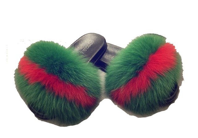 fluffy fur slippers