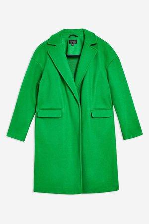 Casual green coat topshop