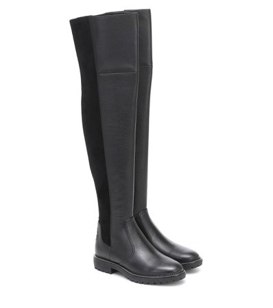 Tory Burch - Miller leather over-the-knee boot | Mytheresa