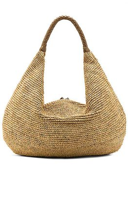 florabella Villahermosa Lux Tote in Natural & Gold | REVOLVE