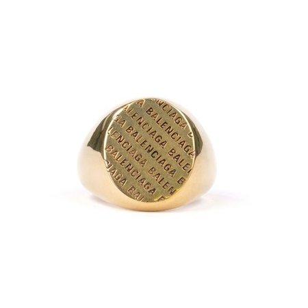 BALENCIAGA TZ99J/PRECIOUS LOGO RING / 0604 : ANTIQUE GOLD