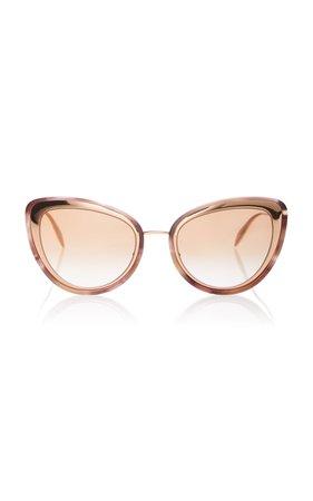 Alexander McQueen Marbled Acetate Cat-Eye Sunglasses