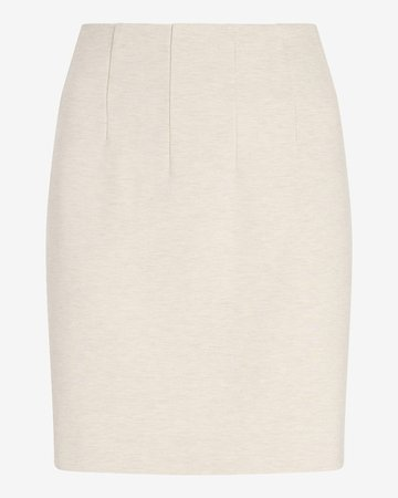 High Waisted Straight Pull-on Mini Skirt | Express