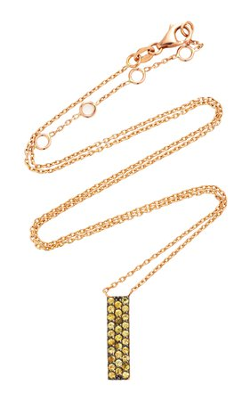 TULLIA Yellowbox 14K Rose Gold And Citrine Necklace