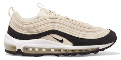 Air Max 97 Leather, Suede And Mesh Sneakers - Cream