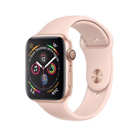 Apple Watch - Gold Aluminium Case with Pink Sand Sport Band - Apple (AU)