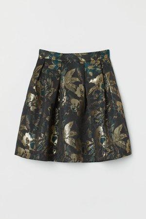 Jacquard-weave Skirt - Blue