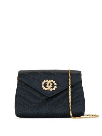 Chanel Pre-Owned 1992 Embellished CC Shoulder Bag - Farfetch