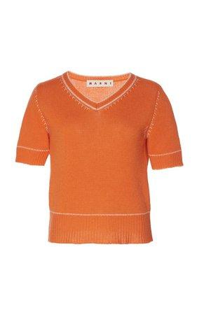 Cropped Cashmere Sweater By Marni | Moda Operandi