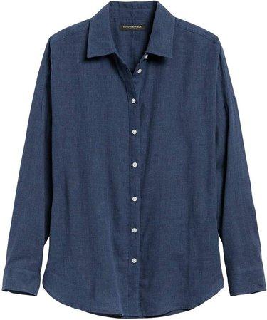 JAPAN EXCLUSIVE Oversized Cotton Gauze Shirt